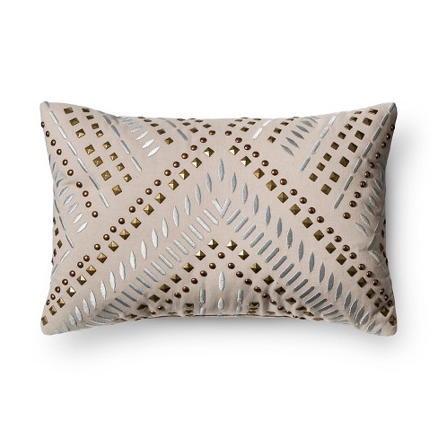 Target Clearance Throw Pillow : Gray Studded Metallic Throw Pillow - Xhilaration : Target