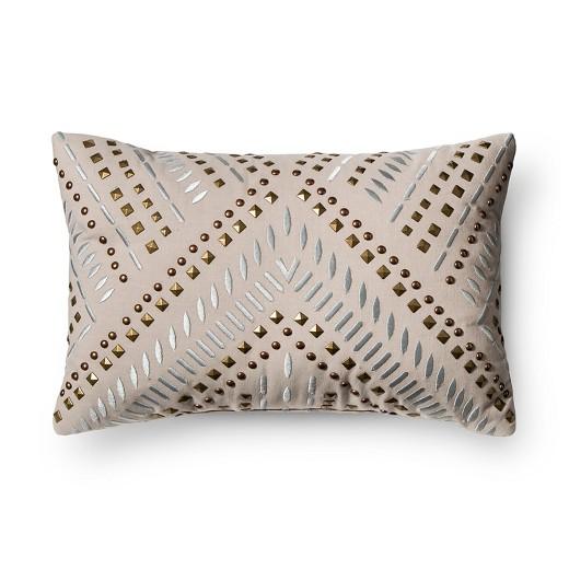 Gray Studded Metallic Throw Pillow - Xhilaration : Target