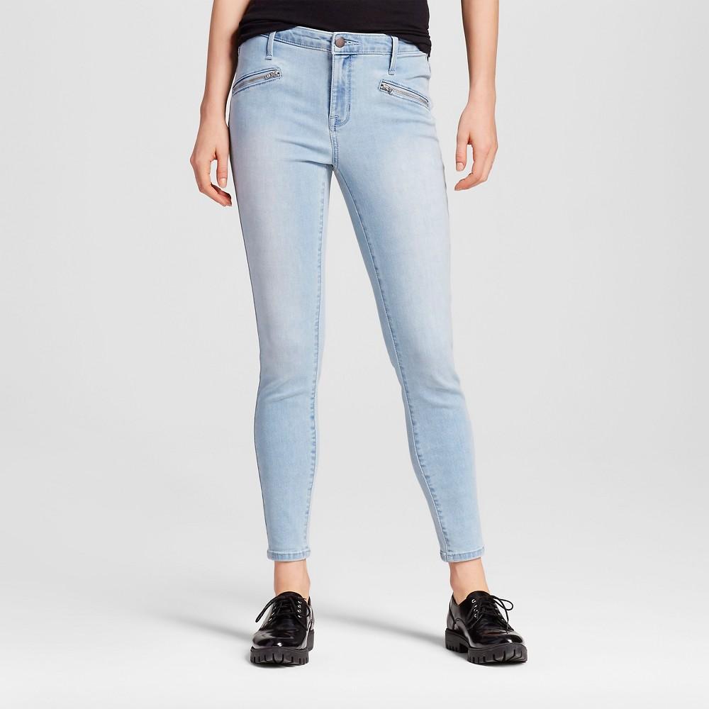 Womens Jeans - Mossimo Black Light Denim 10L, Size: 10 Long, Blue