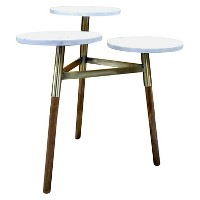 3-Tiered Accent Table - Marble/Gold - Threshold. opens in a new tab.