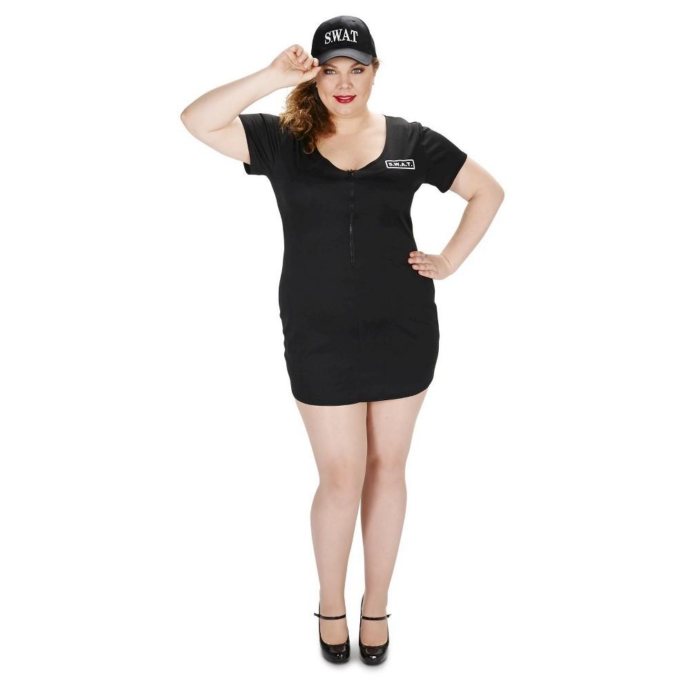 Plus Size S.W.A.T. Dress Women's Plus Costume 1X,  Black plus size,  plus size fashion plus size appare