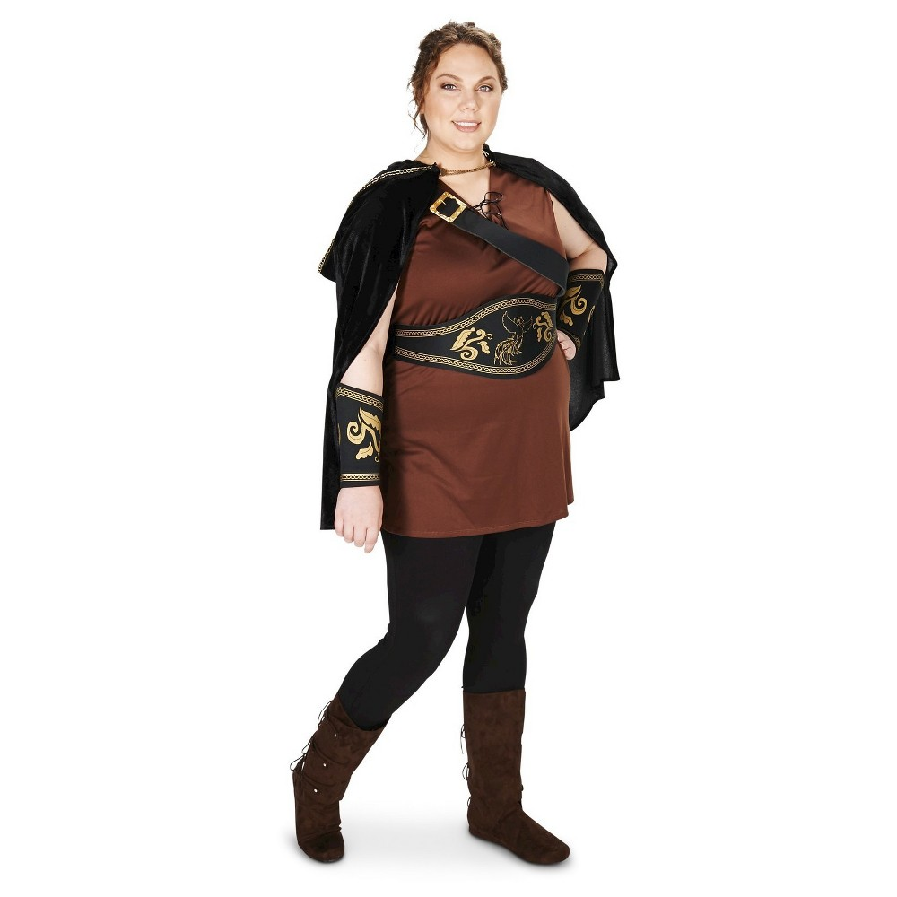 Women's The Lady Huntress Plus Size Costume - 1X,  Multicolored plus size,  plus size fashion plus size appare