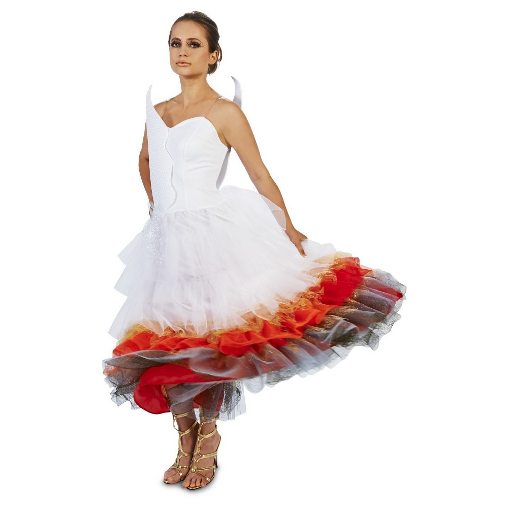 Wedding Dress On Fire Womens Costume Small, Multicolored