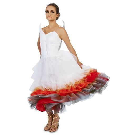 Wedding Dress On Fire Womens Costume