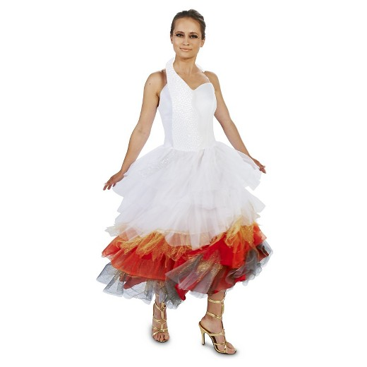 Wedding Dress On Fire Womens Costume