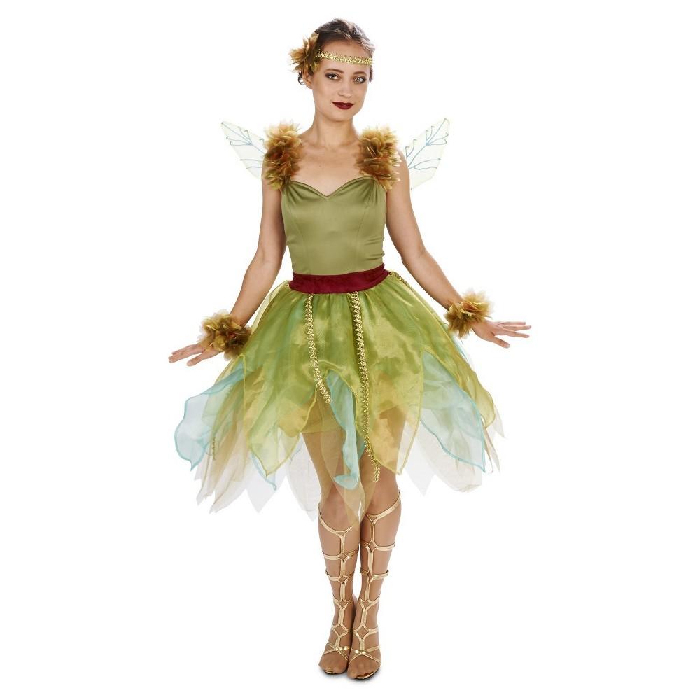 Woodland Fairy Princess Womens Costume Large, Green