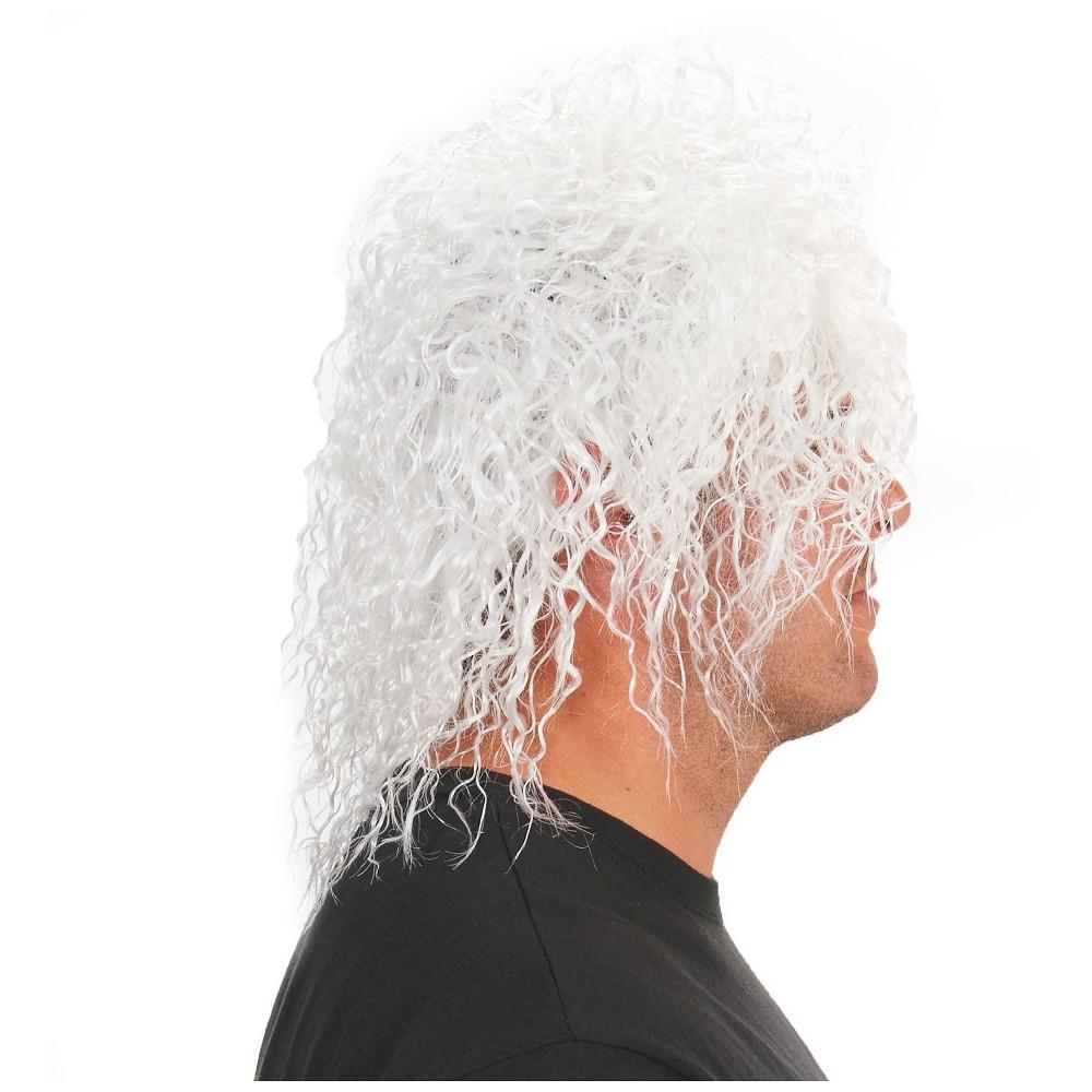 Mad Scientist Mens Costume Wig White