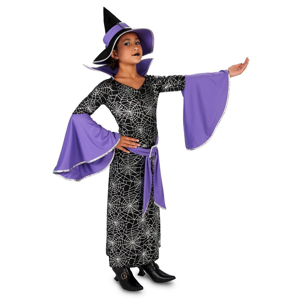 Charming Witch Childs Costume M(7-8), Girls, Black