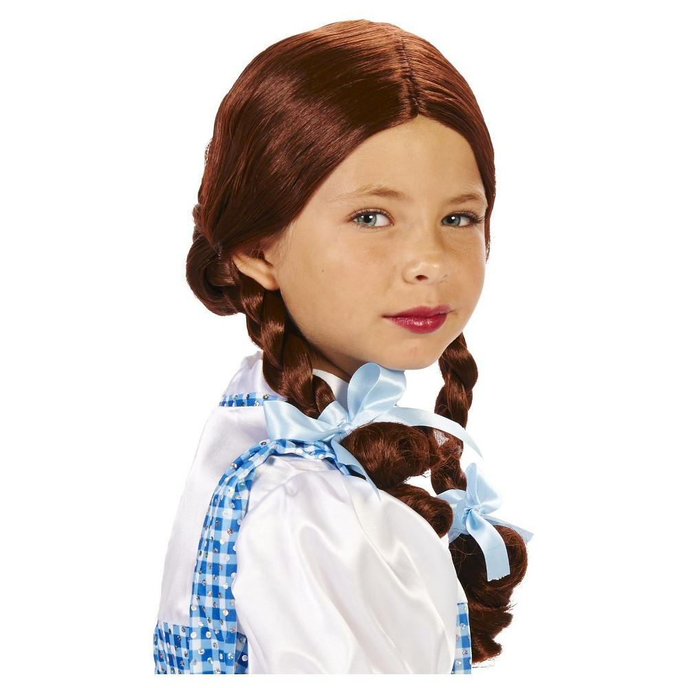 Oz Dorothy Childs Costume Wig Brown, Girls