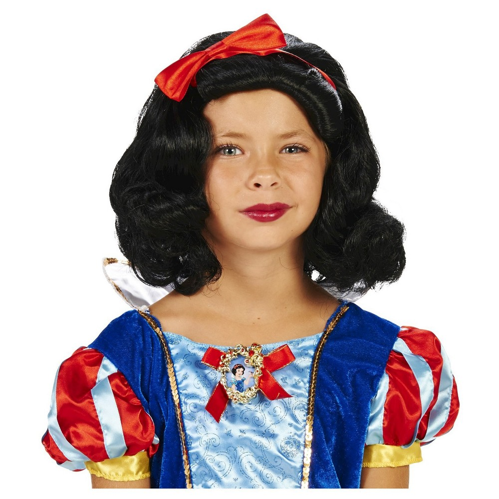 Snow Childs Costume Wig Black - One Size Fits Most, Girls