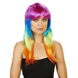 Colorful Women's Costume Wig