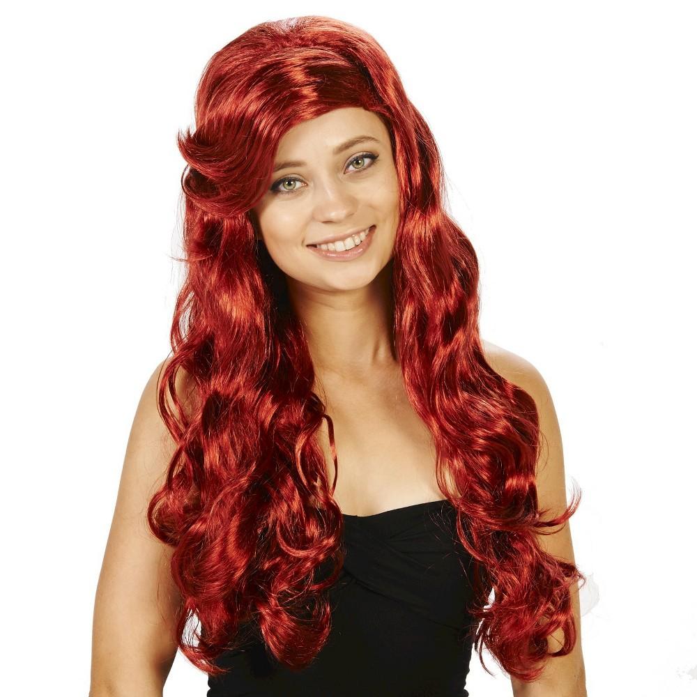 Sea Maid Womens Costume Wig, Red