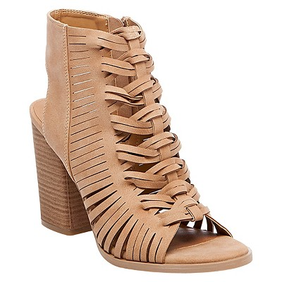 Women's dv Alyson Peep Toe Booties - Taupe 8.5