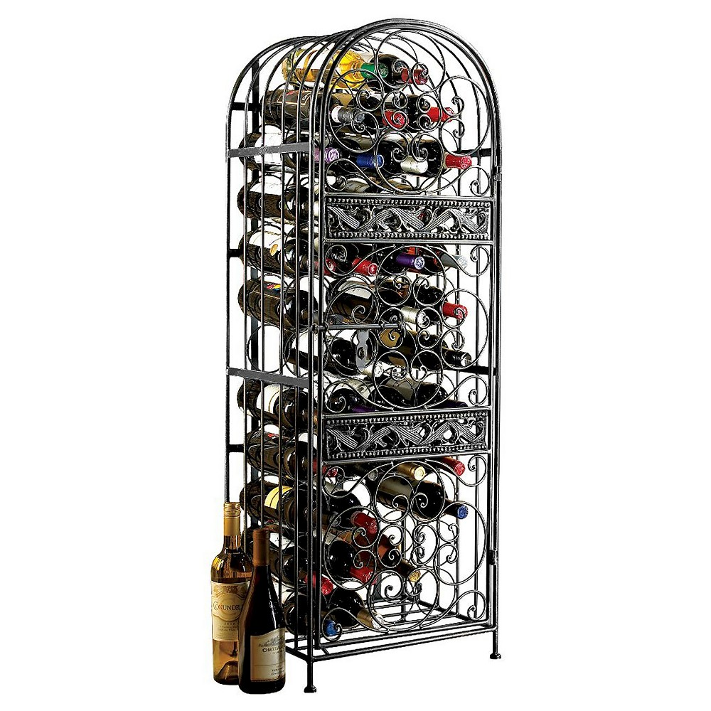 126 Bottle Steel Pantry Wine Rack Chrome - The Wine Enthusiasts, Bronze