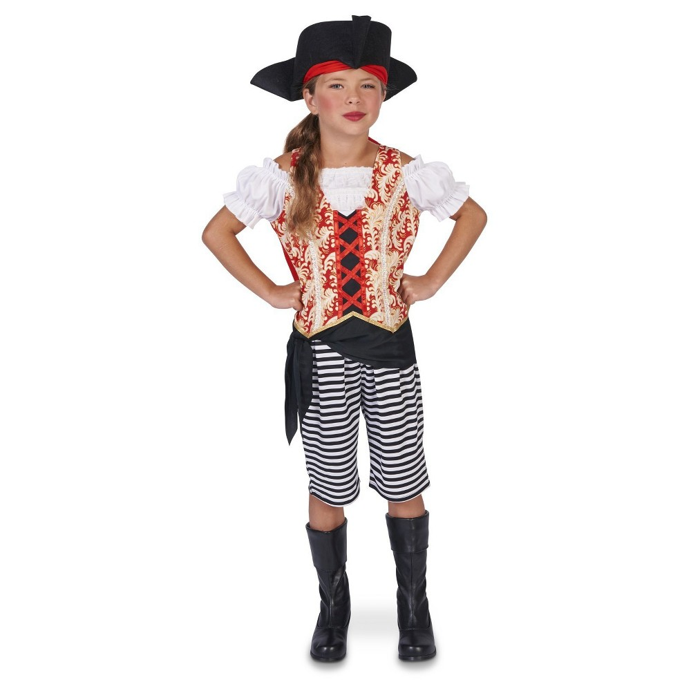 Sea Pirate Girl Childs Costume Large, Black