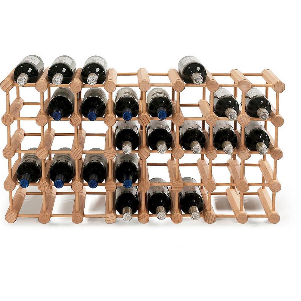 40 Bottle Hardwood Modular Wine Rack - The Wine Enthusiasts, Wood