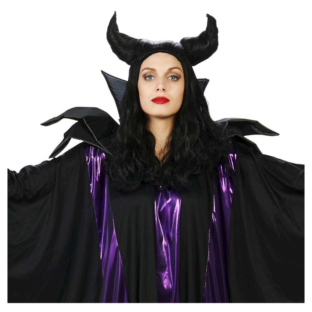 Horned Maleficent Costume Wig Black plus size,  plus size fashion plus size appare