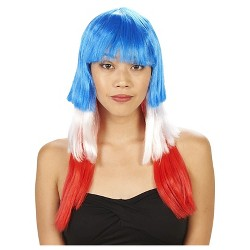Patriotic Bomb Pop Women's Costume Wig - One Size Fits Most