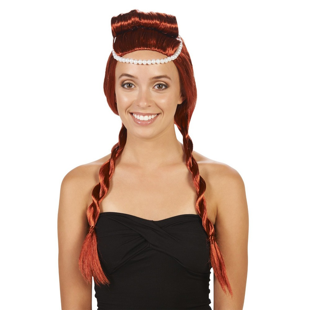 Archaic Womens Costume Wig, Red