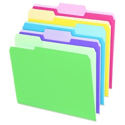 Pendaflex® File Folders with Erasable Tabs, 1/3 Cut Top Tab, Letter, Assorted, 30pk
