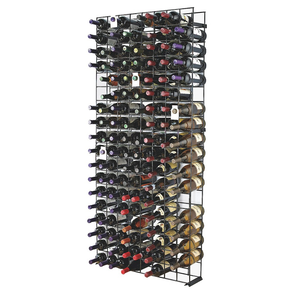 96-Bottle Antiqued Steel Wine Jail Bronze - The Wine Enthusiasts, Black