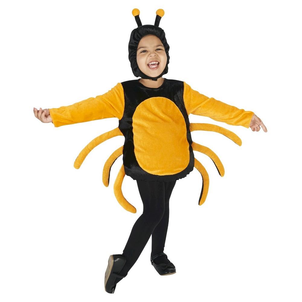 Halloween Spider Toddler Costume 2T-4T, Toddler Unisex, Size: 2T/4T, Black