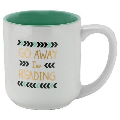10 Strawberry Street Go Away I'm Reading 16oz Mug - Blue