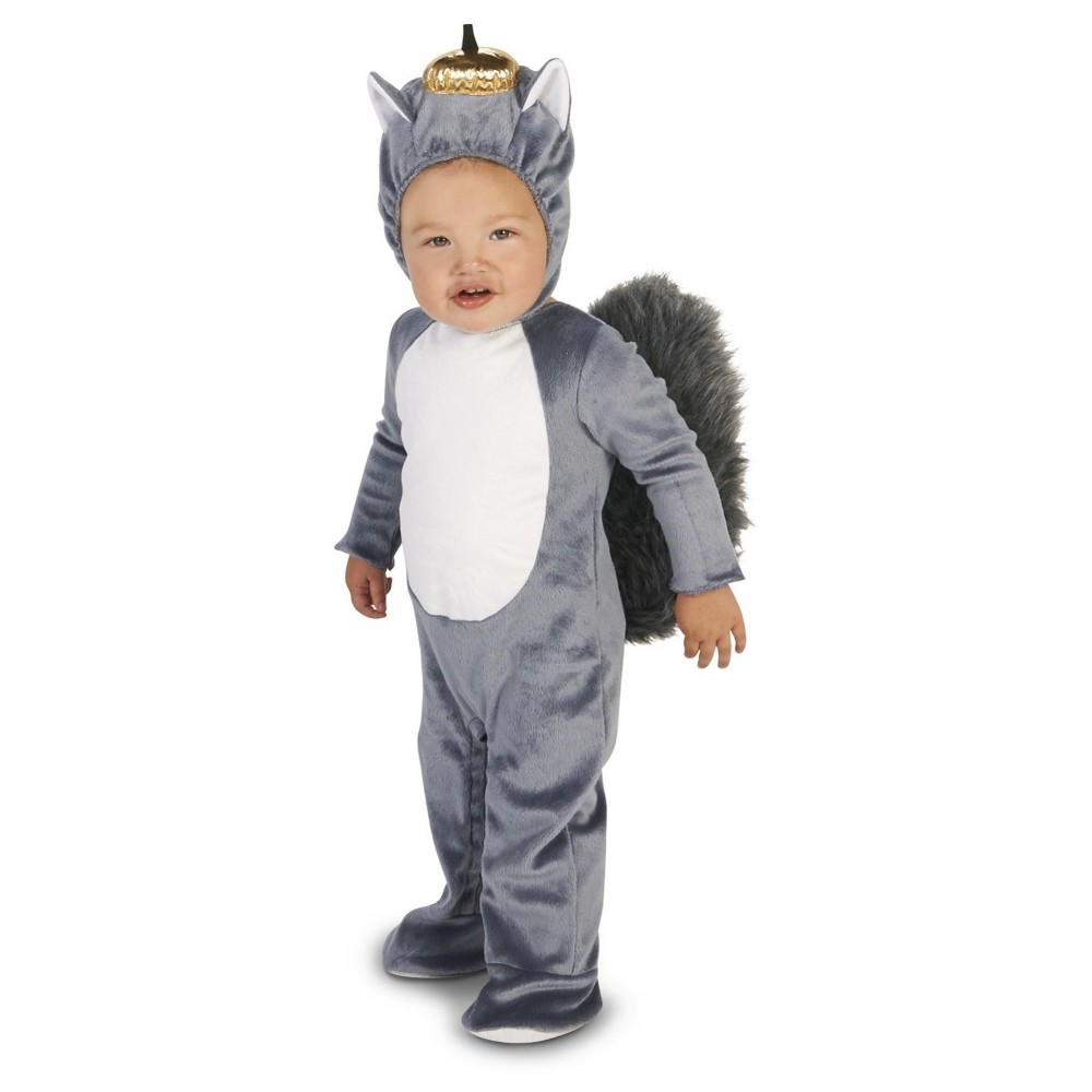 Squirrel Baby Costume 12-18 Months, Infant Unisex, Gray