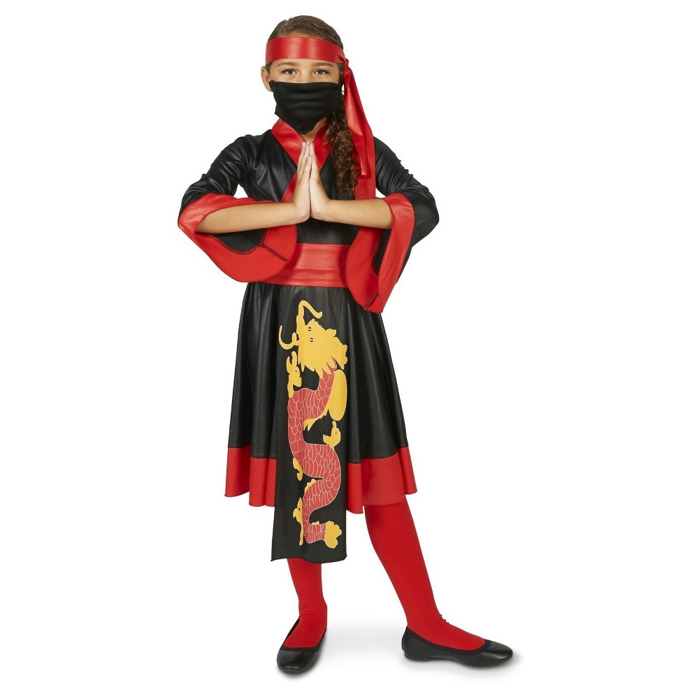 Ninja Girl Dress Childs Costume S(4-6), Black