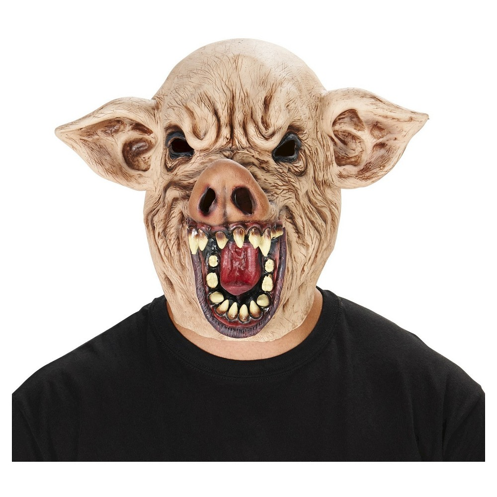 Wild Hog Adult Mask - One Size Fits Most, Adult Unisex, Brown