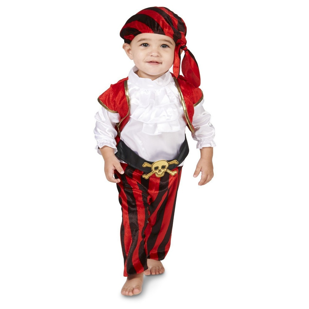 Pirate Baby Costume - 12-18 Months, Infant Boys, Black