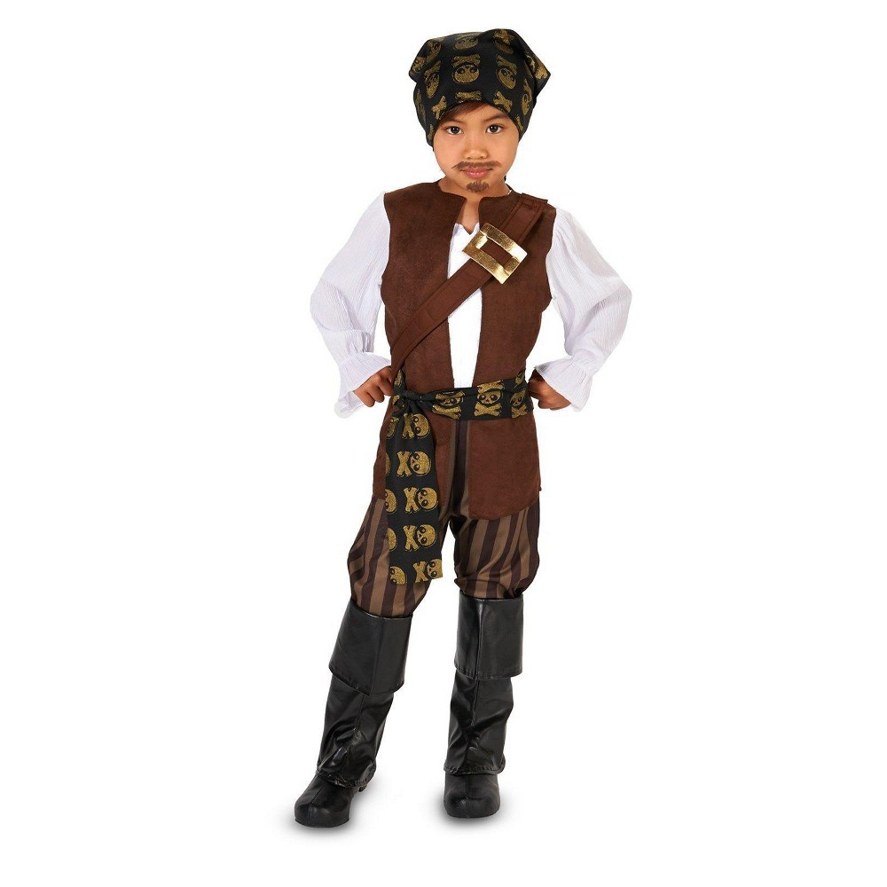 Pirate Toddler Costume - 2T-4T, Toddler Boys, Black
