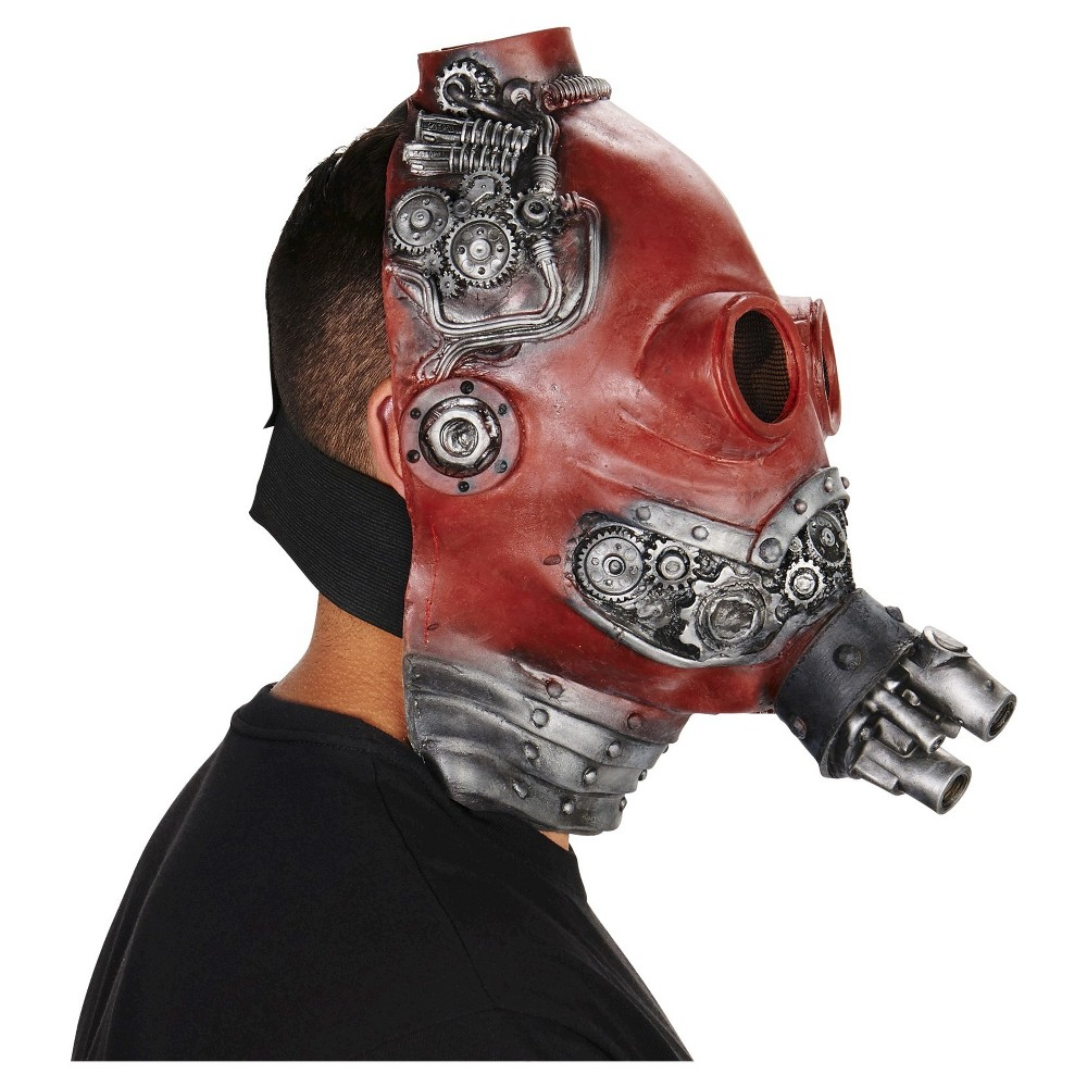 Steam Punk Adult Mask, Mens, Red