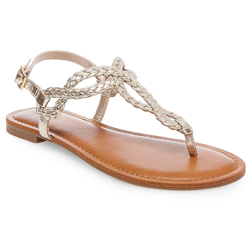 Womens Jana Quarter Strap Sandals - Merona Gold 8