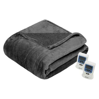 Microlight Berber Electric Blanket (King)Grey