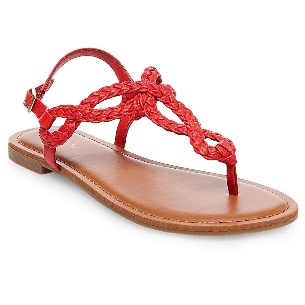 Womens Jana Quarter Strap Sandals - Merona Red 6.5