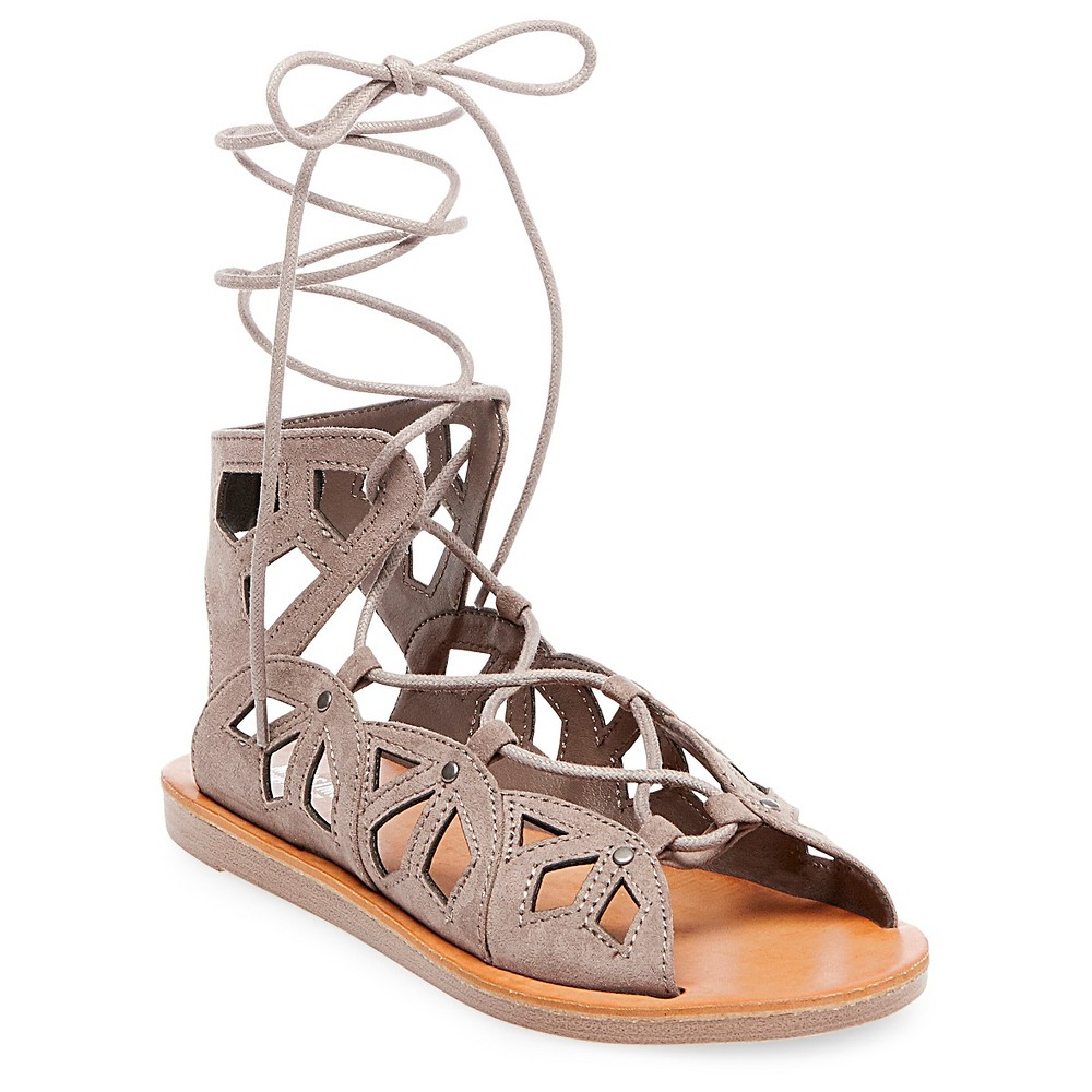 Women's Nadine Gladiator Sandals - Mossimo Supply Co. Gray 8
