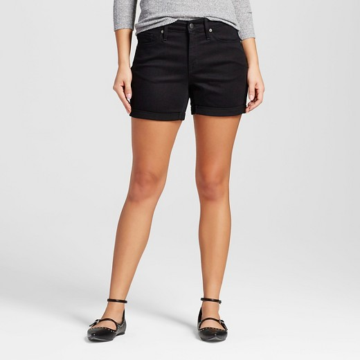 Women's High-rise Midi Shorts Black - Mossimo™ : Target