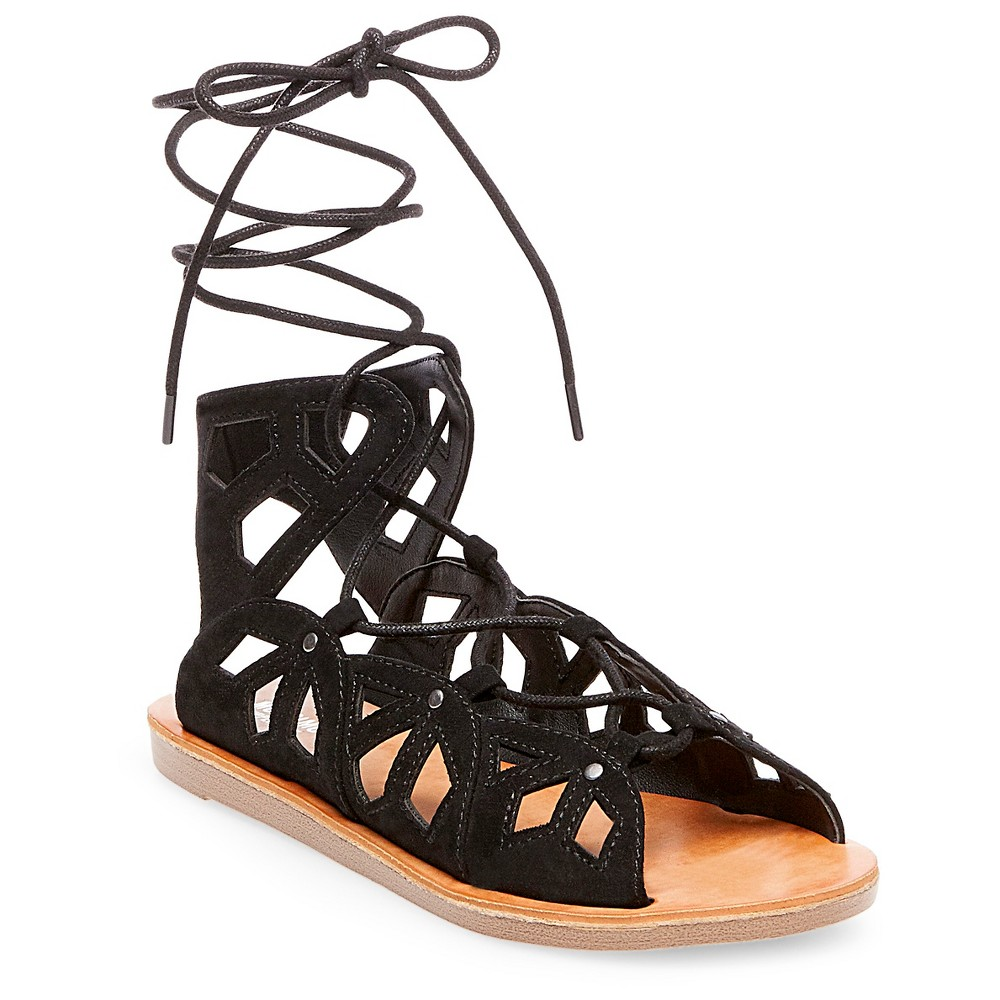 Womens Nadine Gladiator Sandals - Mossimo Supply Co. Black 8
