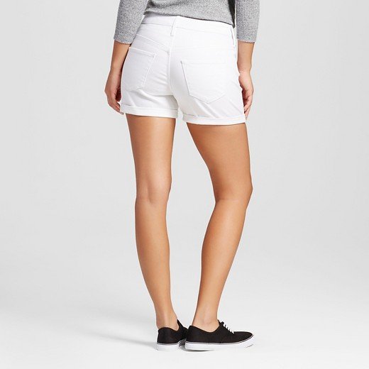 Women's High-rise Midi Shorts White - Mossimo™ : Target