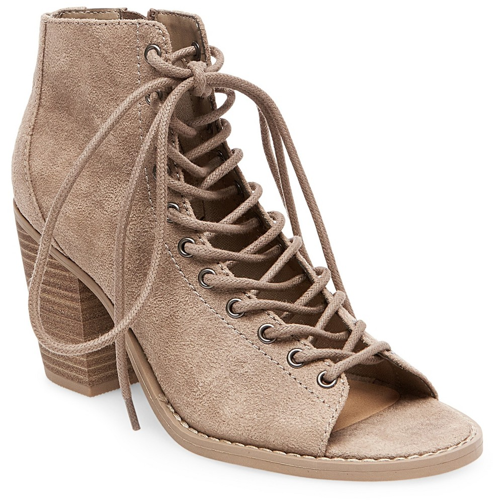 Women's Phobe Lace Up Booties Mossimo Supply Co. – Taupe (Brown) 6