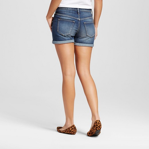 Women's High-rise Midi Shorts Dark Wash - Mossimo™ : Target