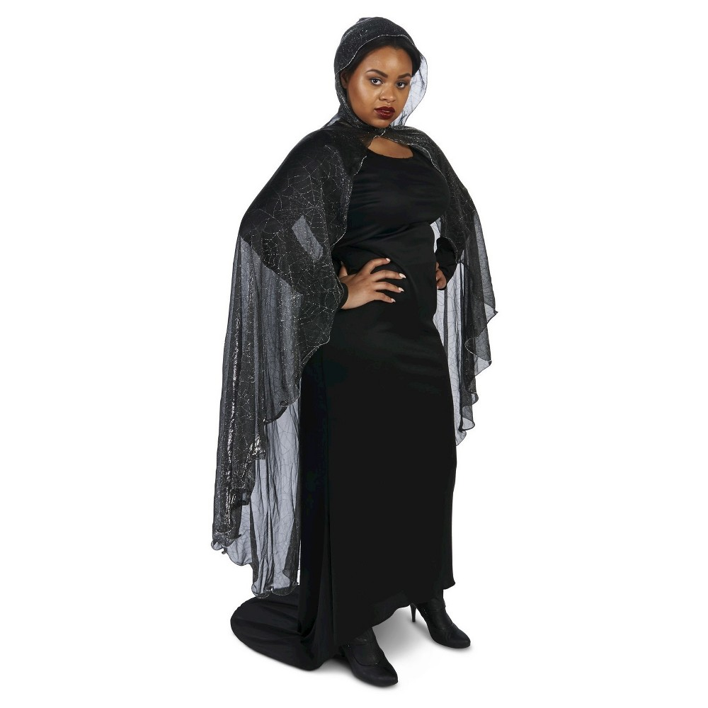 Spider Web Plus Cape Black - One Size Fits Most, Mens