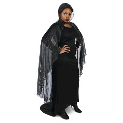Spider Web Plus Cape Black - One Size Fits Most