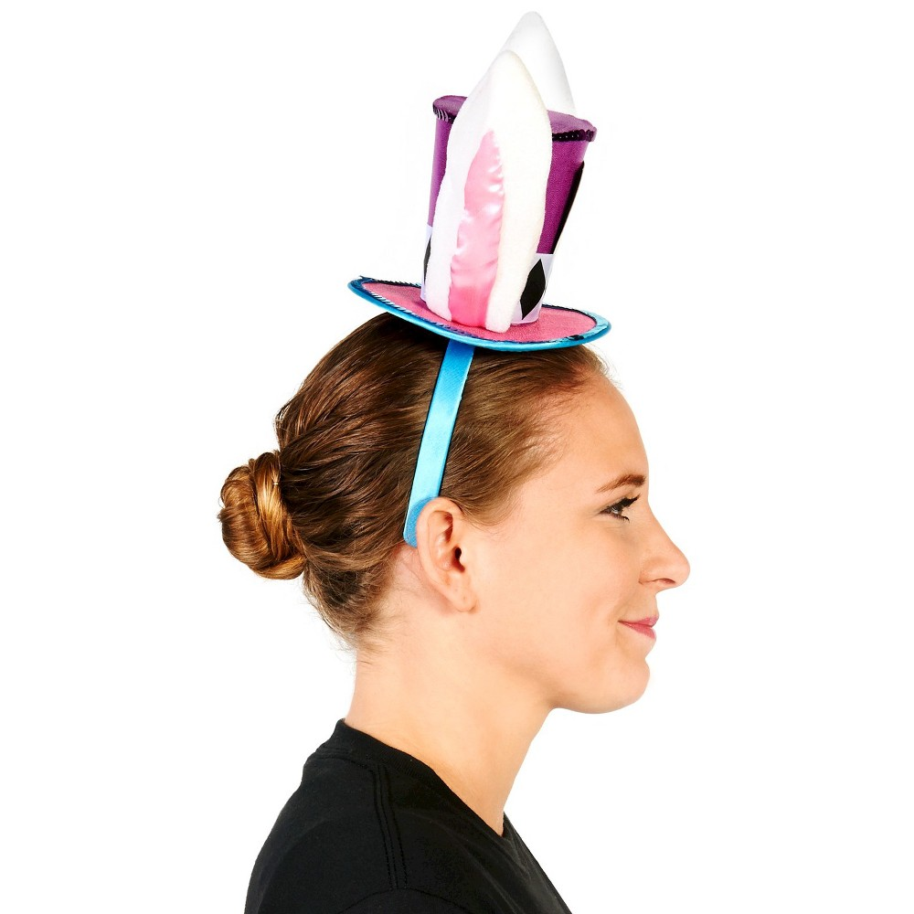 Mad Hatter Rabbit Mens Mini Hat, Multi-Colored