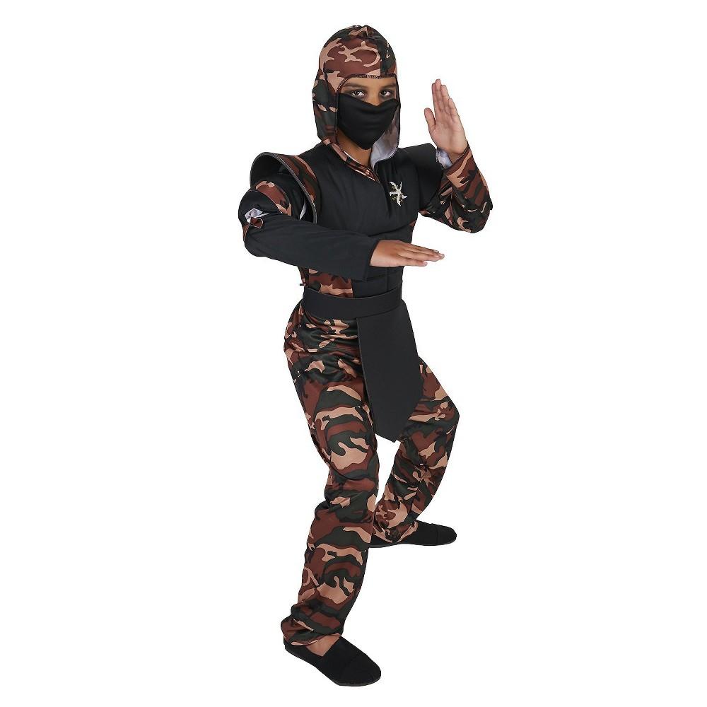 Camouflage Ninja Childs Costume - Medium (7-8), Boys, Size: M(7-8), Multicolored