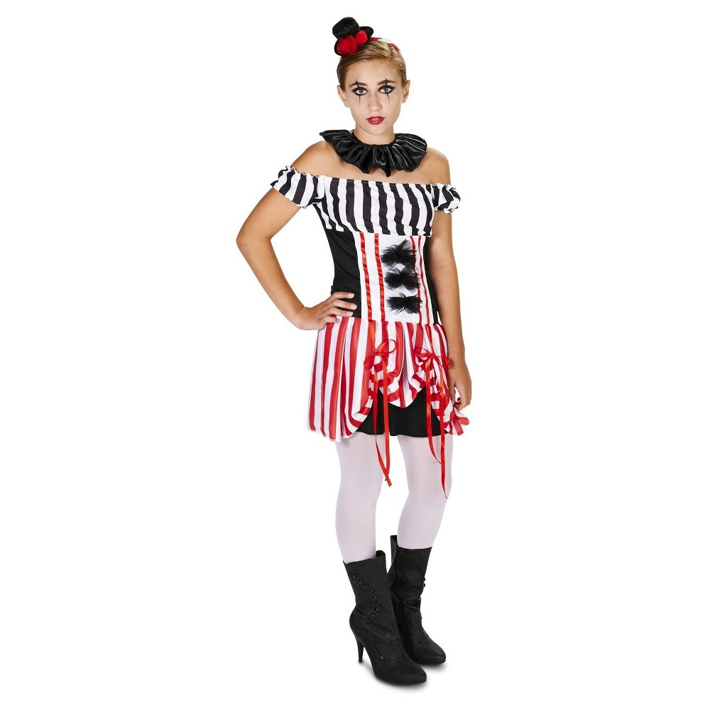 Carn-Evil Vintage Clown Dress Tween Costume - M(7-8), Girls, Multicolored