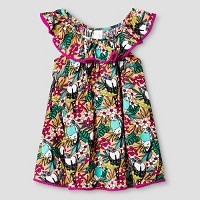 Toddler Girls' Tropical Print Cover Up Dress - Cat & Jack Orange. opens in a new tab.