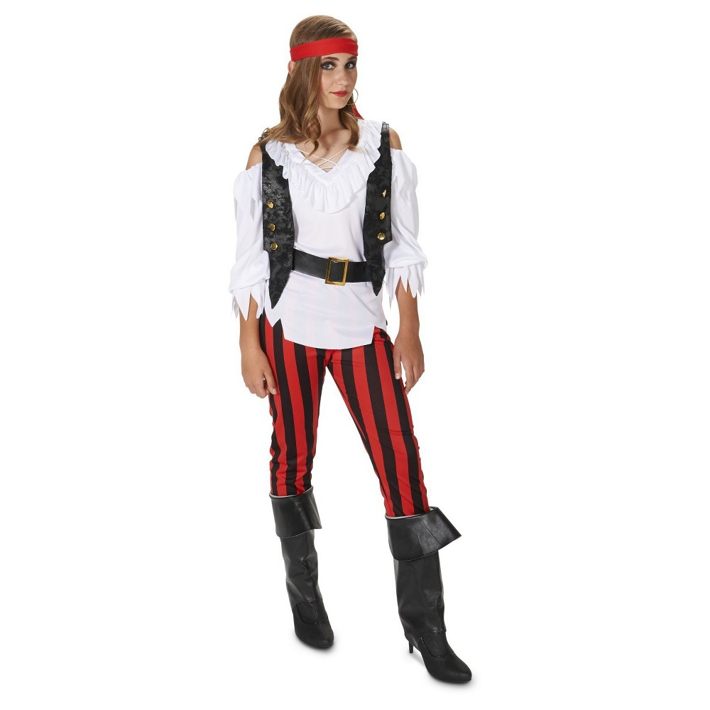 Rebellious Pirate Girl Tween Costume S(4-6), Multicolored