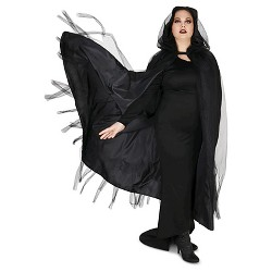 Mesh WoAdult Plus Cape Black